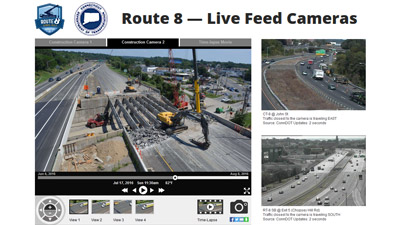CTDOT - Route 8 Client Page